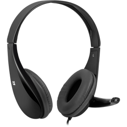 Стерео слушалки с микрофон Defender Aura 111 cable 2 m, Black